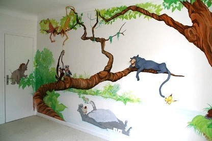 Fresque murale chambre enfant dessins design de maison for Peinture murale enfant
